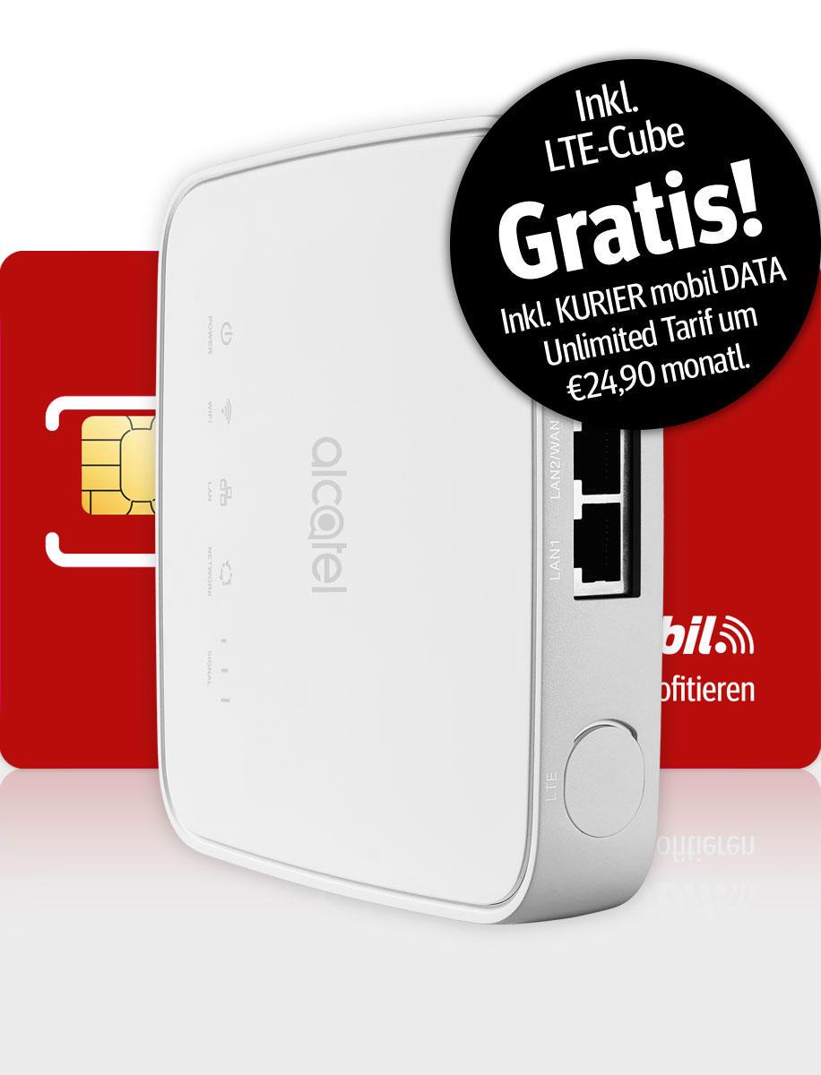 Komplettset mit LTE-Cube und DATA Unlimited Tarif