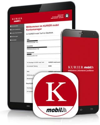 Handy und Tablet mit der KURIER mobil App