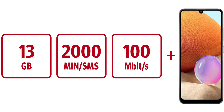 Inklusive 13 GB, 2000 MIN/SMS, 100 Mbit/s und KURIER Digital-Abo